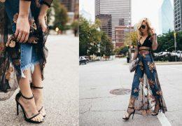 Kako nositi prosojno obleko na dolge hlače