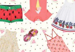 Moda za otroke: ananasi, sladoledi in lubenice