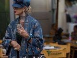 Mandatory Credit: Photo by Cornel Cristian Petrus/REX/Shutterstock (9889477fy) Street Style Street Style, Spring Summer 2019, Milan Fashion Week, Italy - 21 Sep 2018