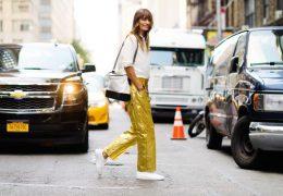 Bleščeče hlače v elegantni podobi