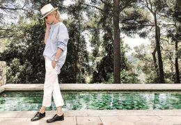 Kako nositi in kombinirati bele hlače