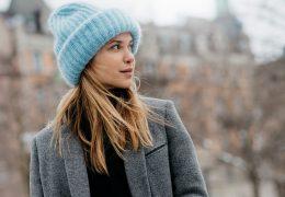 Simpatični look s pleteno kapo