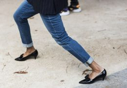 Paris Fashionweek ss2015 day 1, outside Dries van Noten, Saint Laurent shoes