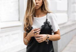 Top kombinacija: T-majica in obleka