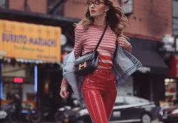 Usnjene in vinyl hlače ostajajo v trendu