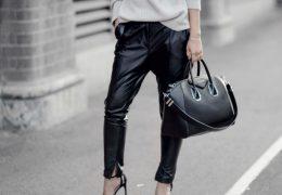 Usnjene hlače so še vedno pomemben del jesenske garderobe