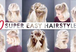 10 napol spetih frizur za krajše lase