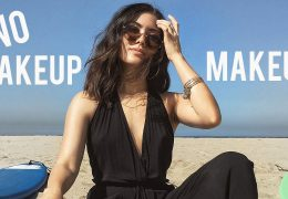 Komaj opazen makeup za trenutke na plaži