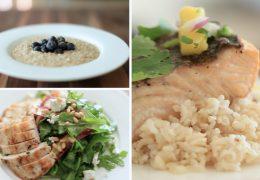 Zdravi obroki za zajtrk, kosilo in večerjo