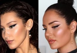 Make-up look kot ga nosi model Bella Hadid