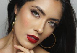 Makeup look, h kateremu se poda tako rdeča kot nude šminka