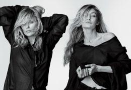Kate Moss in Gigi Hadid za novo kampanjo Stuarta Weitzmana