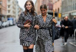 STOCKHOLM, SWEDEN - AUGUST 29: Darja Barannik and Janka Polliani wearing a Lovechild dress outside Stylein during the first day of the Stockholm Fashion Week Spring/Summer 2017 on August 29, 2016 in Stockholm, Sweden. (Photo by Christian Vierig/Getty Images)